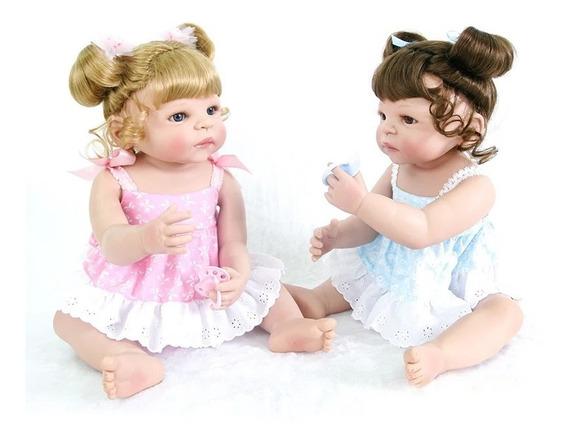 Boneca Bebê Reborn Victória 100% Silicone Vinil