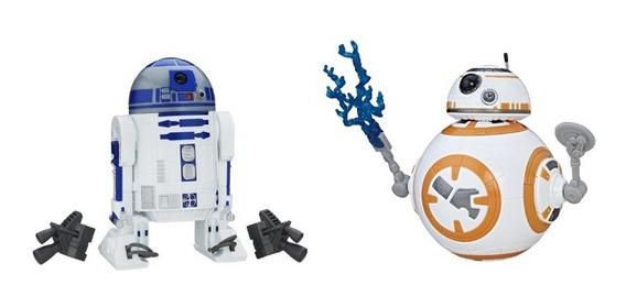 2 Figuras Star Wars Droide 30cm R2 - D2 E Bb8 - Hasbro