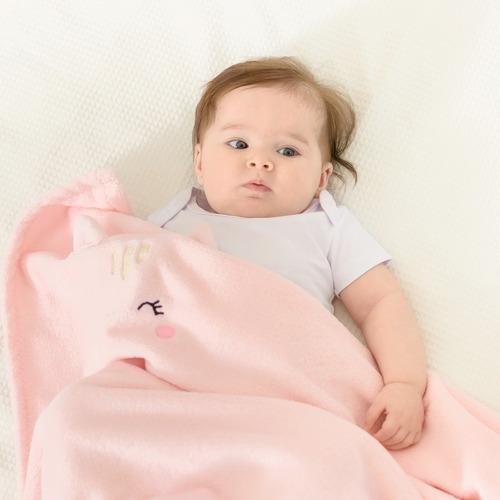 Cobertor De Bebe Manta Soft Infantil 110mx85cm Antialérgico
