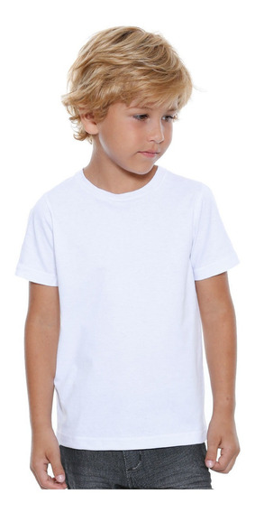 30 Blusas Camisetas Infantil De 1 Ano Ao 14 Anos Branca