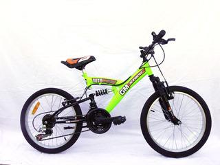Bicicleta Gm 16335 Mountain Bike Rodado 20 Doble Suspension