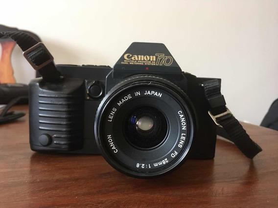 Câmera Canon T-70, 1984, Lente 50mm F/1.8 + Lente 28mm F/1.8