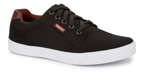 Sneaker Low Top Hombre Negro-rojo- Azul Marino 2589169