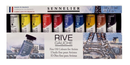 Oleo Rive Gauche Sennelier Set  10 Pomos De 21ml