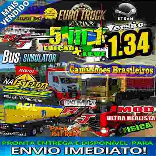Euro Truck Simulator 2+mod Onibus+mercosul