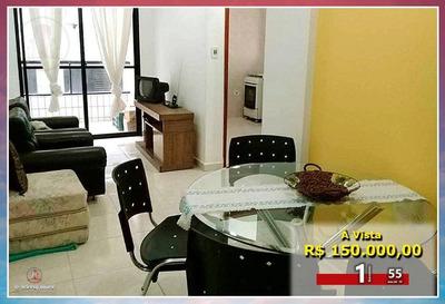 Apartamento Com 1 Dormitório À Venda, 55 M² Por R$ 150.000,00 - Vila Guilhermina - Praia Grande/sp - Ap1230