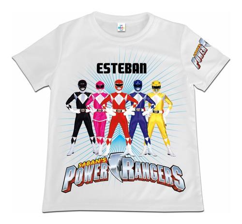 Camiseta Camisa Niño Power Rangers Poliester