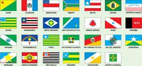 Bandeira Todos Os 27 Estados Brasileiros 1,00 X 0,80 Metros