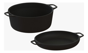 Conjunto Caçarola/frigideira Multiuso Libaneza 26 Cm 5,6 Lts