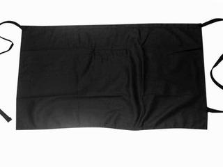 Delantal Corto A Cintura Con Bolsa Color Negro