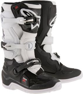 Botas Moto Alpinestars Tech 7s Negro/blanco Talla 02