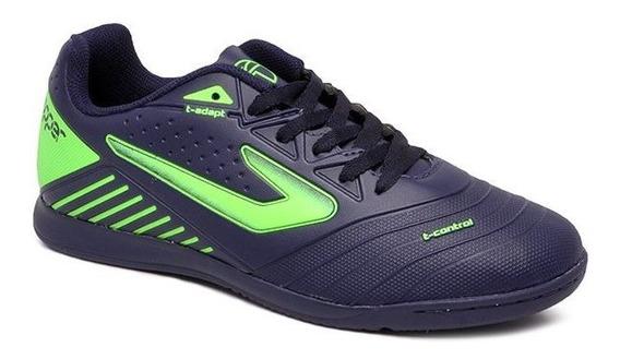 Tênis Futsal Topper Boleiro 3 Tp00820001 Marinho/verde Neon