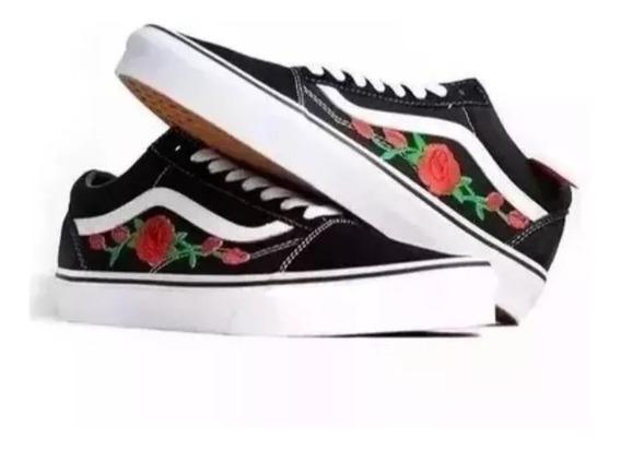 Promoção Tênis Vans Old Skool Floral Feminino Moderno