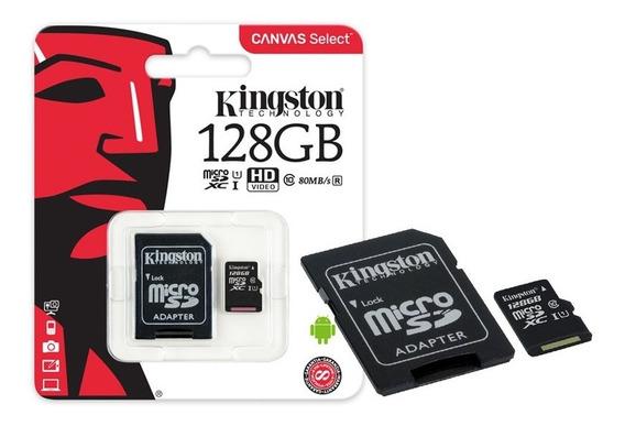 Cartao De Memoria Classe 10 Kingston Sdcs 128gb Micro Sdxc 1