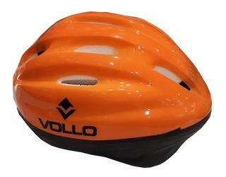 Capacete Helmet Cor Laranja Vollo Vcl410