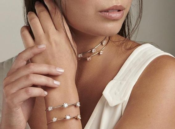 Conjunto Gargantilha E Bracelete Rommanel 531979/551613
