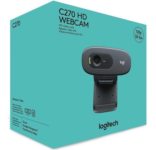 Webcam Logitech C270 Hd Com 3 Mp Widescreen 720p