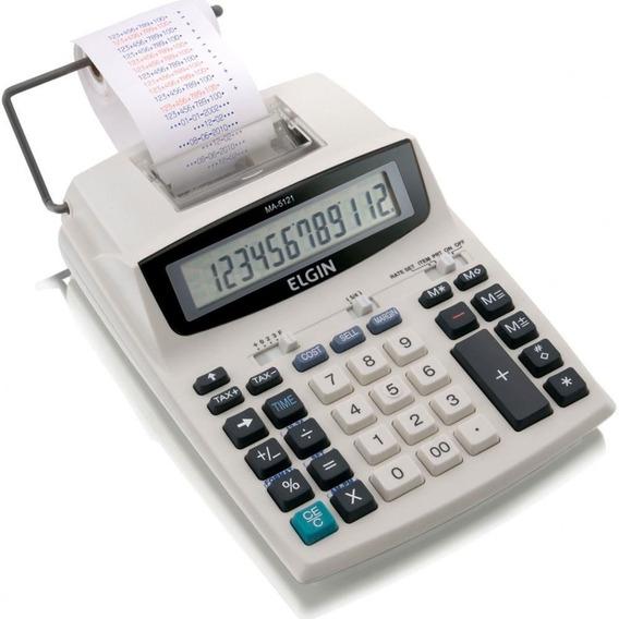 Calculadora De Mesa Elgin Com Bobina 12 Dígitos Ma5121