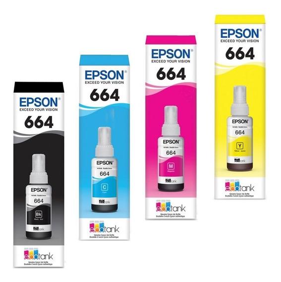 Tinta Epson T664 P L110 L200 L210 L300 L350 L355 L365 L395