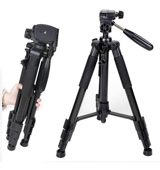 Tripé De Alumínio Preto Para Câmeras Fotográficas.