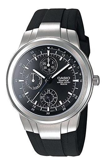 Reloj Casio Edifice Ef-305 Triple Fechador Correa Caucho