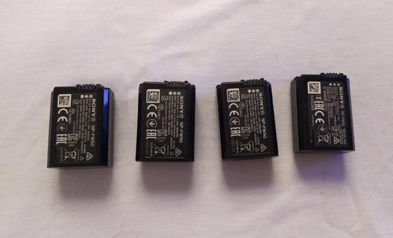 4 Baterias Np - Fw50 Sony Para Câmera Sony A6300/a6500