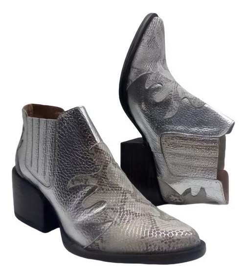 Botas Botinetas Borcegos Zapatos Cuero Texana Verano 2102