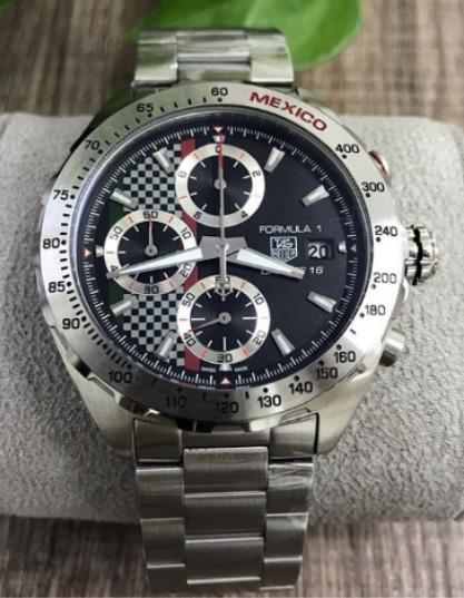Relógio Masculino Tag F1 Mostrador Preto