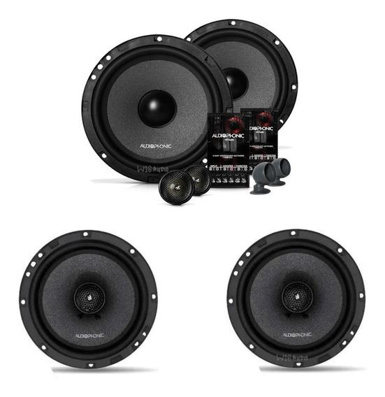 Kit 2 Vias Audiophonic Kc 6.3 + Audiophonic Coaxial Cb650.v3