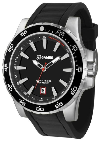 Relógio Xgames Masculino Xmsp1015 P1px Preto Aço