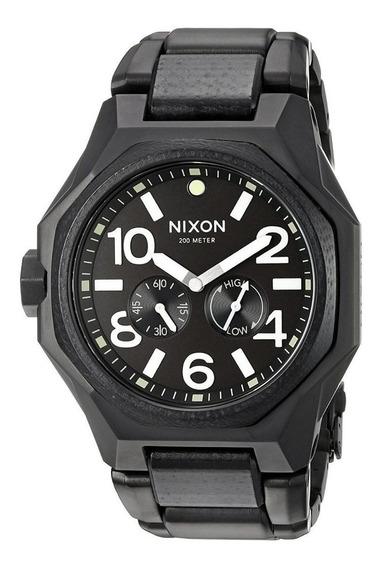 Oferta Reloj Nixon A3971042 Suizo Negro Mate Tiempo Exacto