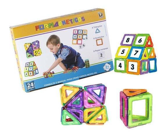 Formas Magnética Blocos Magnéticos Brinquedos Educativos Imã