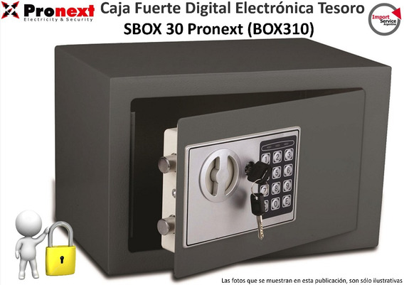 Caja Fuerte Digital Electrónicatesoro Sbox 30 Pronext Box310