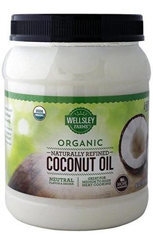 Aceite De Coco Orgánico Refinado Naturalmente De Wellsley Fa