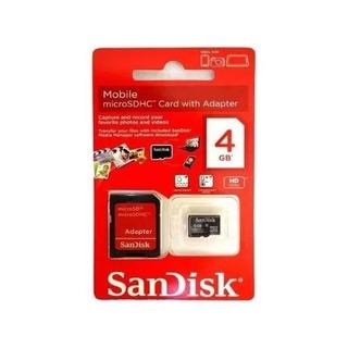 Cartão Memória Micro Sd 4gb Lacrado Original Pronta Entrega