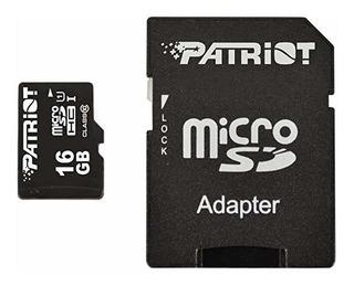 Flash Tarjeta Microsdhc Pro Series 16 Gb Patriot Lx