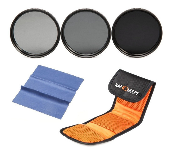 Kit 77mm Filtros Hd Nd2 + Nd4 + Nd8 Densidade Neutra