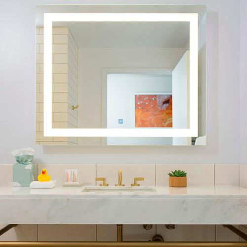 Espelho Com Led Embutido Para Maquiagem, Faixa De Led Frente