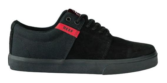Zapatillas Reef Skilt Black/black Hombre Original Envio