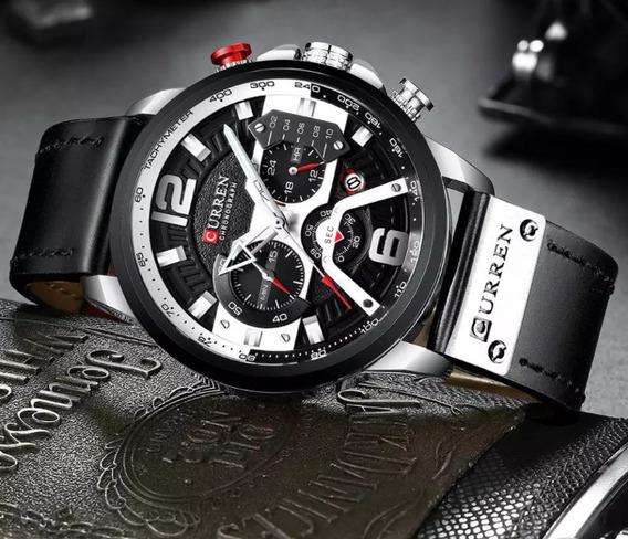 Relógio Curren 8329 Sport Original Safira Funcional Barato