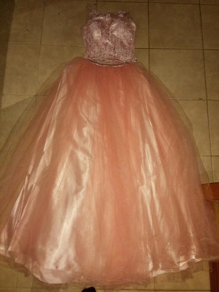Vestido De 15 O Recepción Color Rosa Nude.