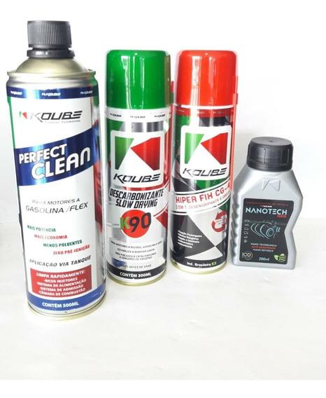 Kit Automotivo Nanotech Perfect Clean Hiper Fix Descarboniza