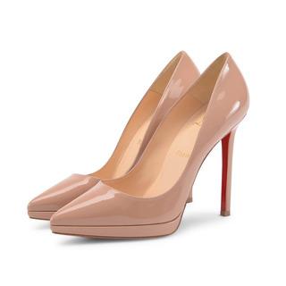 Sapato De Grife Famosa Couro Verniz Plato Solado Vermelho 36