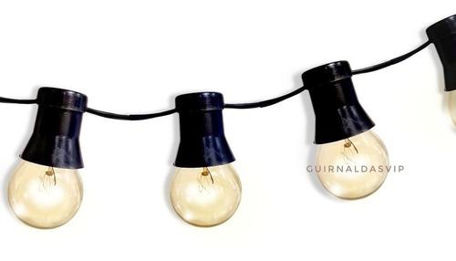 20 Mts Guirnalda Luces Kermesse Exterior Lluvia Cod: C20c70