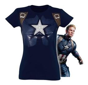 Playera Capitán América Endgame Avengers End Game Mujer