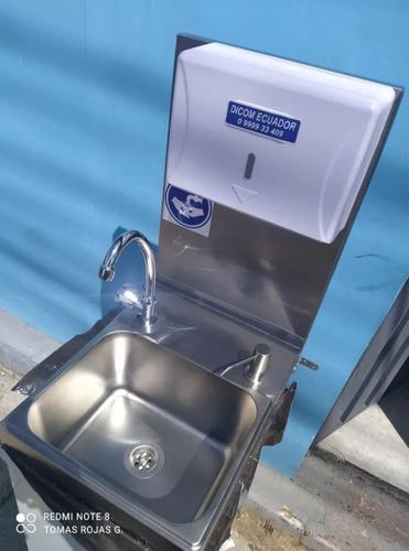 Lavamanos Lavabo Portatil Acero Full Extras Conexión Directa