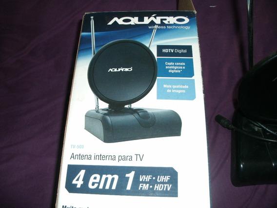 Antena Aquário Hdtv,uhf,vhf E Fm