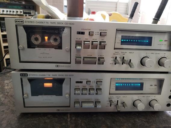 2 Tapes Cce Cd-500 Leia Todo O Anuncio!