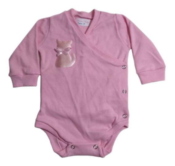 Body Kimono Para Bebê / Body Transpassado Kit 6 Peças