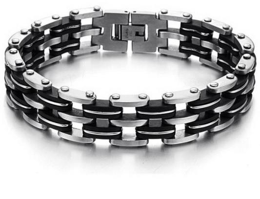 Bracelete Masculino Aço Inoxidável 316l Pulseira Com Elos